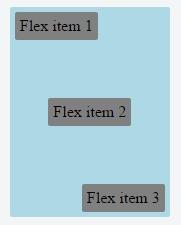 flexbox вертикальное выравнивание